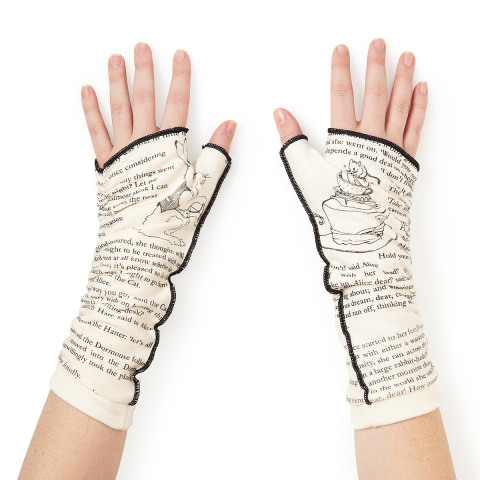 Alice in Wonderland Literary Writing Gloves