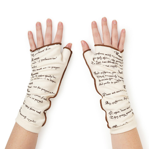 Romeo and Juliet Literary Writing Gloves