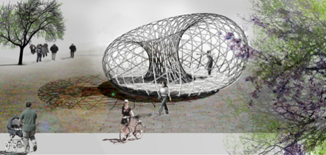 The Weaving Pavillion concept drawing: © David Garcia Studio