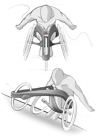 Ultra Long Distance Wheelchair Sketches