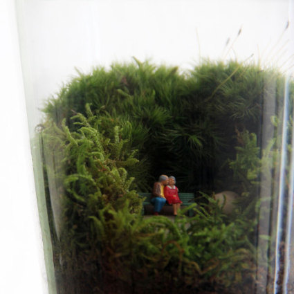 Grow Old With You Terrarium (detail): image via uncommongoods.com