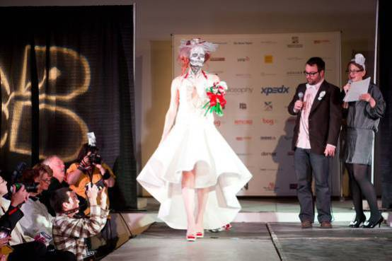 2011 entry, Paper Fashion Show in Denver: photo credit: Mark Broste