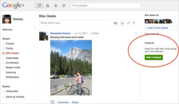Google+ looks strangely familiar to another social network!