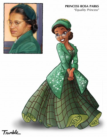 Princess Rosa Parks (Image by David Trumble, (c)2013, used by permission)