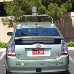 Google Self-Driving Car: image via pcmag.com