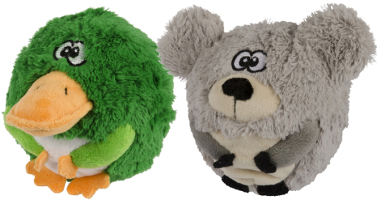 New Zealand Chasers Frog & Bear Dog Toys: image via petpost.co.nz