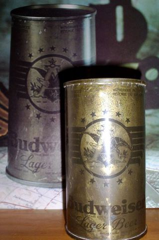 The second of 12 Budweiser beer cans marketed during World War II: image via wikipedia.org