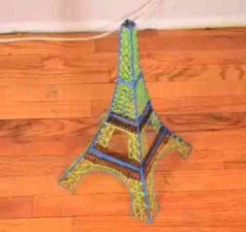 3D Eiffel Tower Drawn by 3Doodler (You Tube Image)
