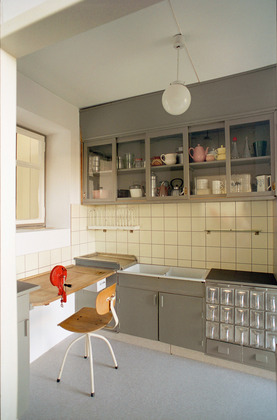 Reconstruction of the Frankfurt Kitchen from the Höhenblick Housing Estate: image via MOMA.org