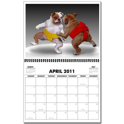 Animal Antics 2011 Dog Wall Calendar