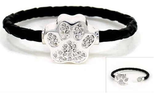 Swarovski Element Dog Paw Bracelet: image via amazon.com