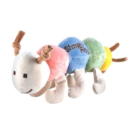 Simply Fido Organic Plush Maggie Caterpillar Dog Toy....
