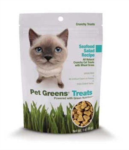 Pet Greens Treats Seafood Salad Crunchy Cat Treat