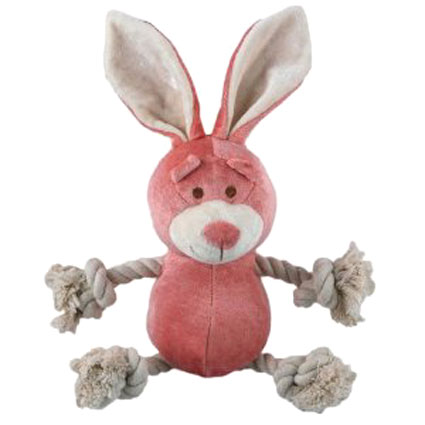 Simply Fido Bamboo Rayon Plush Rope Petite Lucy Pink Bunny