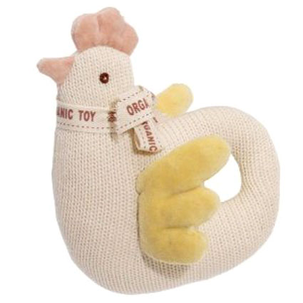Simply Fido Organic Knitted Percy Chicken Dog Toy