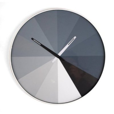 Ultra Flat Wall Clock: by Thomas Buchheim for Kikkerland