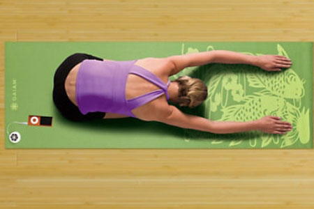Gaiam Audio Yoga Mat