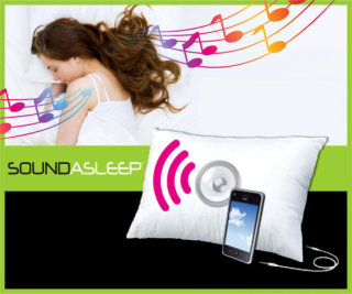 The Sound Asleep pillow: pink sound lines not included.
