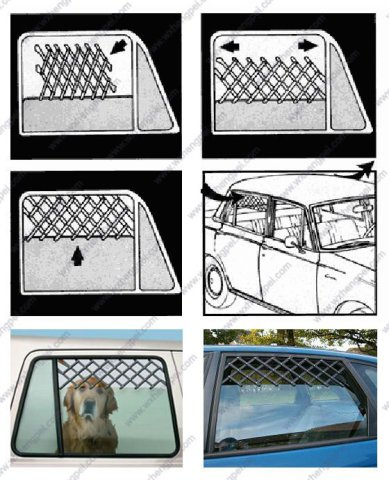 Pet Parade Car Window Pet Gate