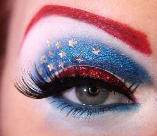 Patriotic Eye Shadow