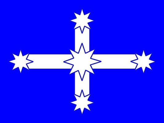 The Eureka Flag design, a proposed new country flag for Australia: image via smh.com.au
