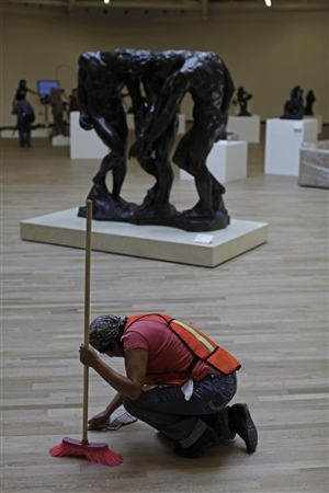 The Three Shades by Rodin. The Rodin exhibit is extensive and impressive: © Associated Press via npr.org