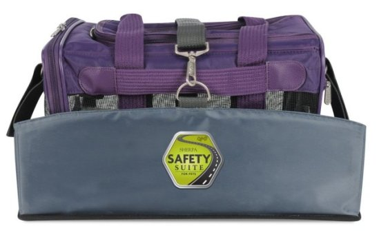 Sherpa Safety Suite containing Sherpa Original Deluxe pet carrier