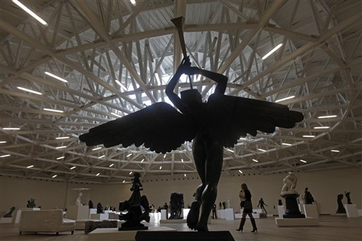 The Triumphant Angel by Salvador Dali on the top floor of the Museo Soumaya:  Associated Press via npr.org