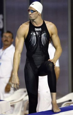 8e365a8effb German Paul Biedermann, wearing the Arena X-Glide suit, made almost  entirely of polyurethane, crushes Phelps at the world swimming  championships in Rome.