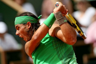 Raphael Nadal whose tennis court grunts are notorious: image via blogfac2face.com