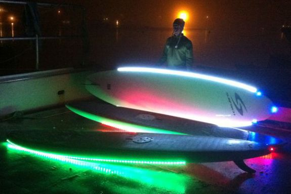 Paddleboard With Lights