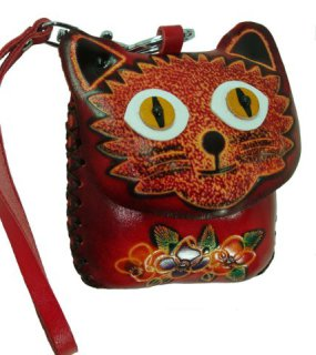 Kitty Face Leather Coin Purse: image via amazon.com