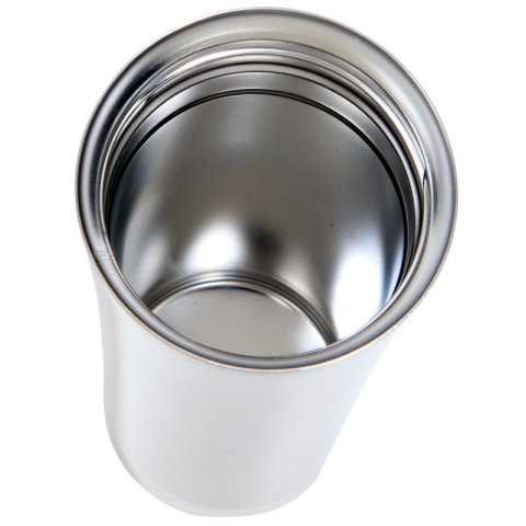 Thermos Sipp 16-ounce Travel Mug is double-walled stainless steel