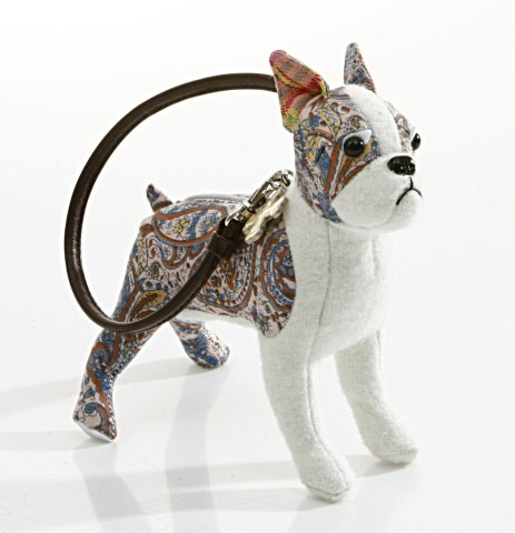 Fuzzy Nation Pinwheel Boston Terrier Wristlet