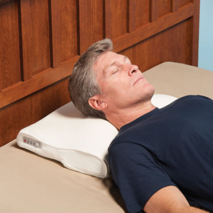 The Snore Activated Nudging Pillow: image via hammacher.com