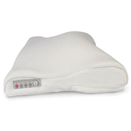 The Snore Activated Nudging Pillow controls: image via hammacher.com