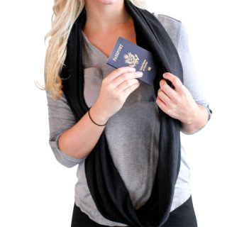 Travel Hands Free Wrap as long body scarf: image via hammacherschlemmer.com
