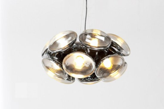 Bulb, in one chandelier frame, designed by Tom Dixon:  Tom Dixon