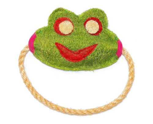 Paraguayan Frog Eco-Loofah Dog Tug Toy: image via amazon.com