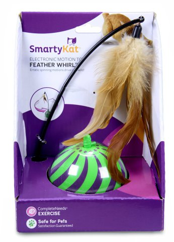 SmartyKat Feather Whirl Electronic Motion Ball