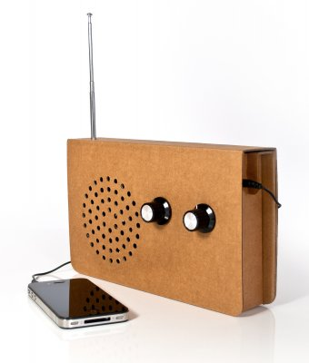 Cardboard Radio, design by Christopher McNicholl: © SUCK UK