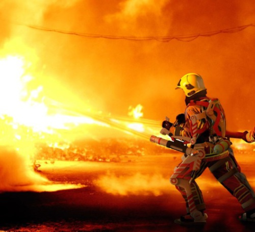 The exoskeleton suit will increase performance in walking, running and carrying up to 91 kg while high-rise firefighting.