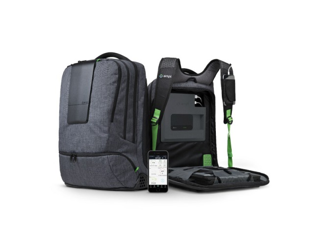 AMPL, the World's First Smart Backpack: A complete charging station and storage compartment in one convenient travel bag