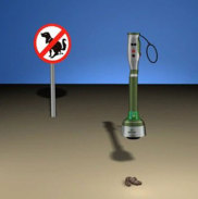 AshPoopie solves pickup, disposal, & sanitizing issues related to 'dog poop': image via quirky.com