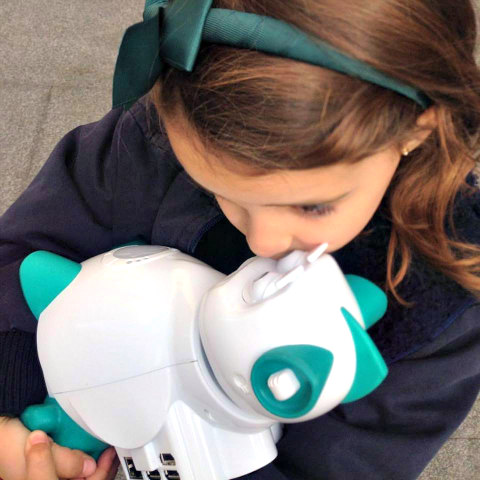 Aisoy1 V5 is a Friendly Buddy for Autistic Kids: Hugs & love translate in all languages (image via Facebook)