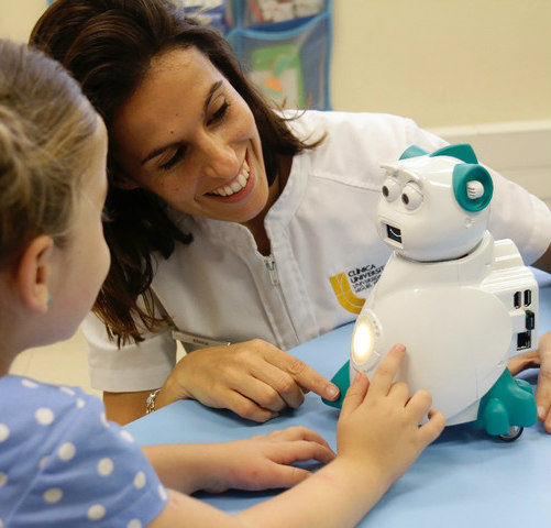 Robotics as Teaching Tools: Aisoy1 the friendly robot (image via Facebook)