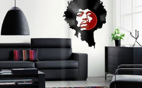 Jimi Hendrix on the Wall