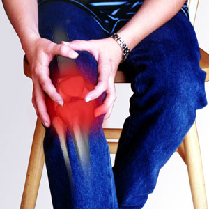The knee joint is commonly the site of pain caused by arthritic inflammation.: image via arthritislegpain.us