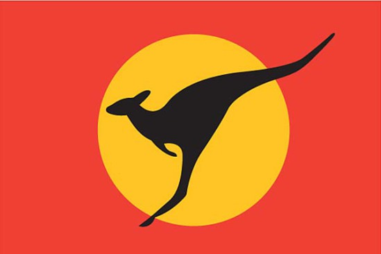 """Design #5,"" a proposed new country flag for Australia: image via smh.com.au"