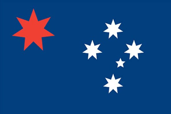 """Design #4,"" a proposed new country flag for Australia: image via smh.com.au"